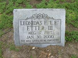 Leonidas Fudge Etter, III