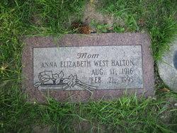 Anna Elizabeth <I>West</I> Halton