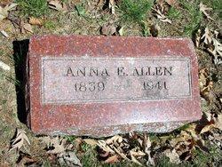 Anna E. <I>Vorbes</I> Allen