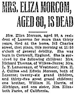 Eliza <I>Harris</I> Morcom