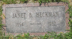 Janet B <I>Goodhart</I> Heckman