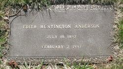 Edith <I>Huntington</I> Anderson