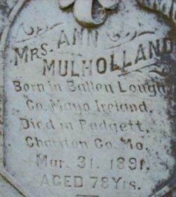 Mrs Ann <I>Laughlin</I> Mulholland