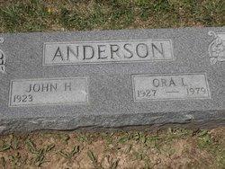 Ora Lee <I>Hibdon</I> Anderson