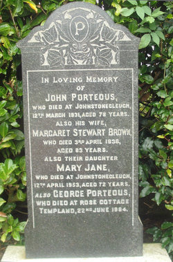 Margaret Stewart <I>Brown</I> Porteous