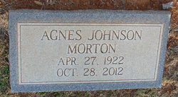 Agnes <I>Johnson</I> Morton