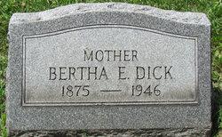 Bertha E. <I>Murphy</I> Dick