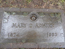 Mary c admire 1874 1963 find a grave memorial for Evergreen memorial gardens vancouver wa