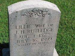 Emma Lillie <I>Wright</I> Rutlege