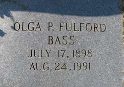 Olga Pawnee <I>Fulford</I> Bass