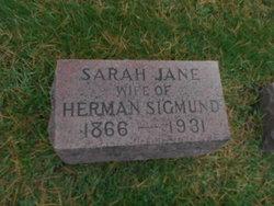 Sarah Jane Bruce Sigmund (1866-1931) - Find A Grave Memorial