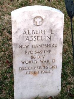 PFC Albert L Asselin