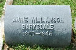 Anna Campbell <I>Williamson</I> Barksdale
