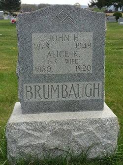 Alice Keturah <I>Isenberg</I> Brumbaugh