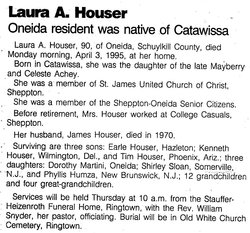 Laura A <I>Achey</I> Houser