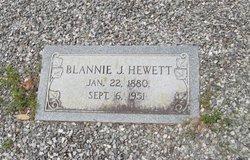 "Blansett ""Blannie"" <I>Jones</I> Hewett"