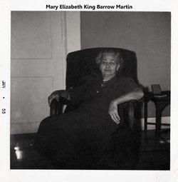 """Mary Elizabeth """"Lizzie"""" <I>King</I> Barrow"""
