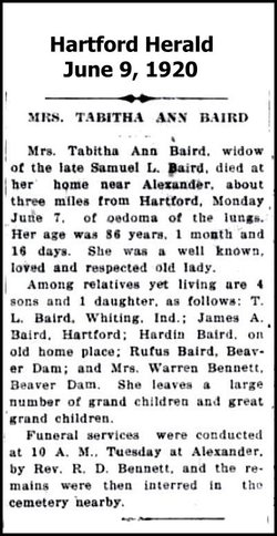 Tabitha Ann <I>Bennett</I> Baird