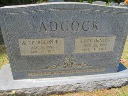 Lucy Charlotte <I>Henley</I> Adcock