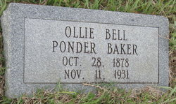 Ollie Bell <I>Ponder</I> Baker