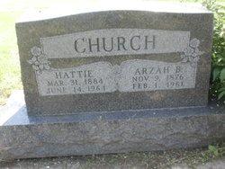Hattie Leona <I>Fitzpatrick</I> Church