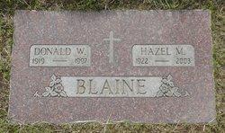 Donald W Blaine