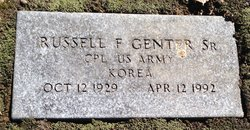 """Russell Frank """"Russ"""" Genter, Sr"""
