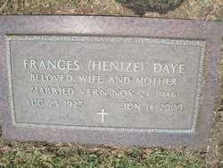 Frances <I>Henize</I> Daye