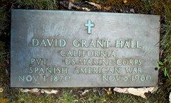 Pvt David Grant Hall