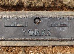 Harriet Catherine <I>Spangler</I> Yorks