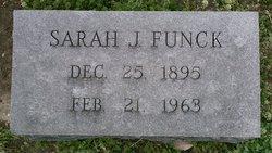 """Sarah Jane """"Sadie"""" <I>Francis</I> Funck"""