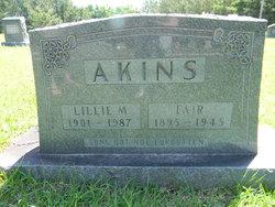 Lillie Mae <I>Long</I> Akins