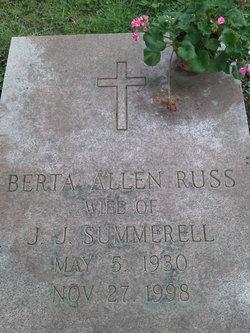 Berta Allen <I>Russ</I> Summerell