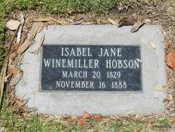 Isabel Jane <I>Winemiller</I> Hobson