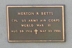 Merton R Betts
