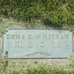 Emma Elizabeth <I>Wall</I> Mecham