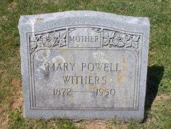 Mary E <I>Powell</I> Withers
