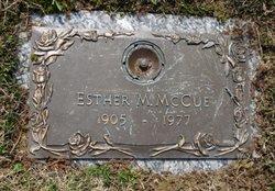 Esther M McCue