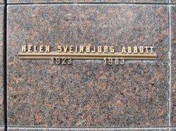Helen <I>Sveinbjorg</I> Abbott