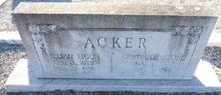 Frances Gertrude <I>Stone</I> Acker