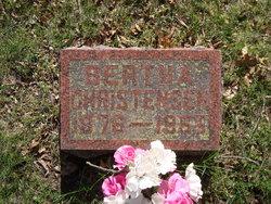 Bertha C <I>Very</I> Christensen