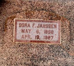 Dora F. <I>Wolgast</I> Janssen