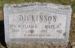 Mary Delaphine <I>Decker</I> Dickinson
