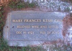Mary Frances <I>Kemp</I> Orr