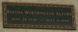 Bertha <I>Worthington</I> Alford