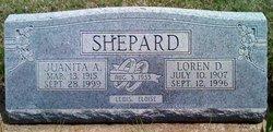 Juanita A <I>Hatfield</I> Shepard