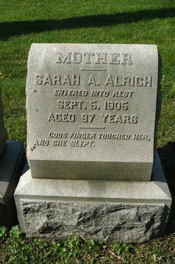 Sarah A. <I>McFarlin</I> Alrich