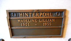 Madeline L <I>Mann</I> Hinterpohl