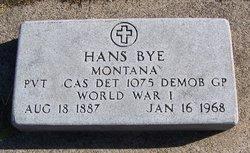 Pvt Hans Adolph Bye