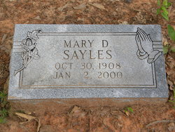 Mary D. Sayles